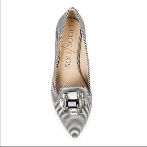 Sole Society Bejeweled Flat